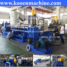 plastic pet bottle/pp pe film recycling line + granulator line