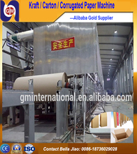 recycled paper making machine to make kraft liner paper carton paper and cardboard