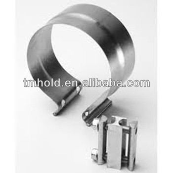 Stainless steel Pre-formed lap joint exhaust clamp