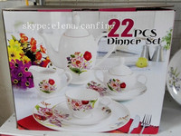 cheap stock 22pcs modern New Bone China dinner set with light weight