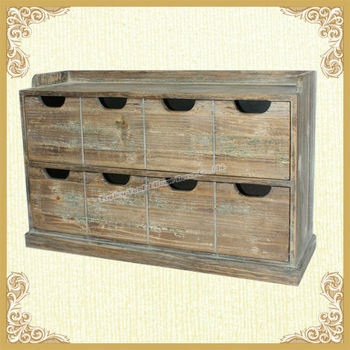 French Style Wooden Cabinet with 8 Drawers