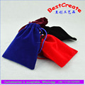 Cheap Custom printed velvet gift bags/Velvet Christmas gift bag China