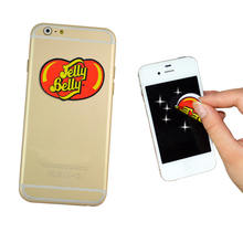 custom cell phone cover cleaning cloth sticker