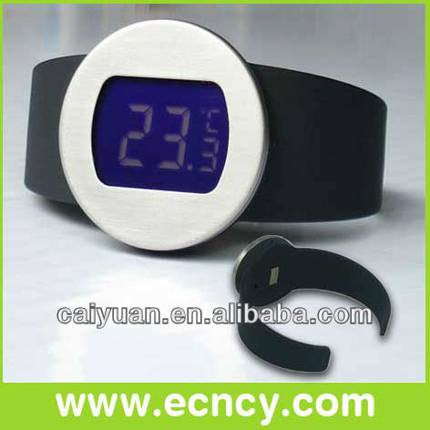digital lcd display wine bottle thermometer for personal