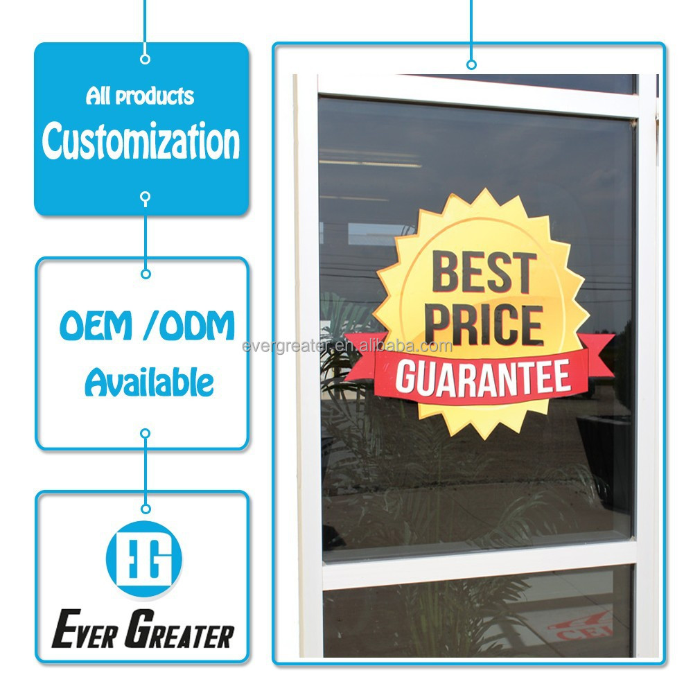 Wholesale customized made top quality decorative stickers for glass door