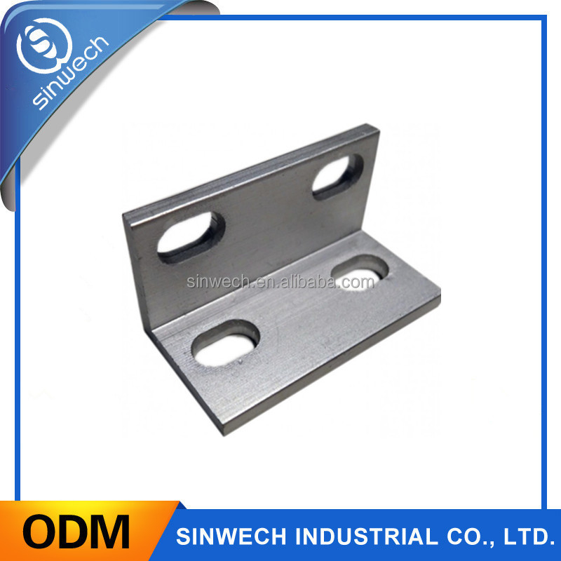 High precision small stamping L shape aluminum bracket for machinery parts