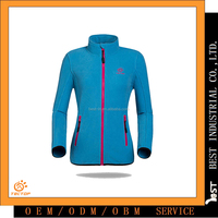 Professional supplier of ladies double brushed and anti-pilling warm fleece jackets