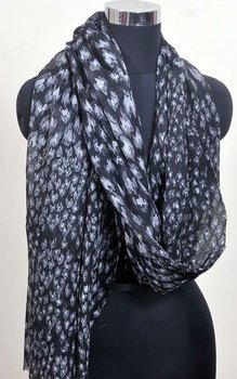 100% cashmere abstract print scarfs