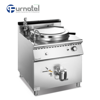 Commercial Stainless Steel 900 Series Electric Gas Tilting Soup Kettle Boiling Pan