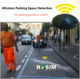 Italy On-street Wireless Smart Parking System with sensor guidance software