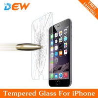 Ultra Thin 0.26mm Premium Tempered Glass Screen Protector For iPhone 6 6S i6plus i5 HD Toughened Protective Film + Cleaning Kit