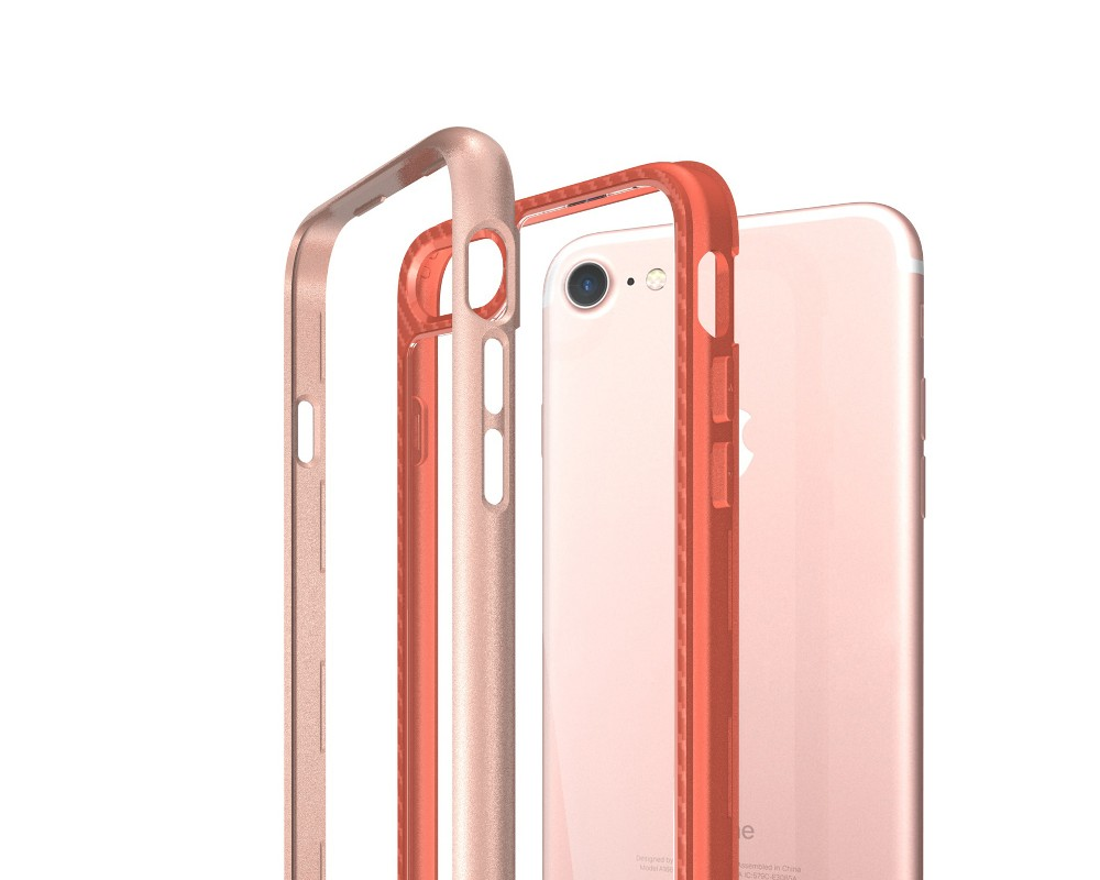 2017 Newest products Clear pc back colorful bumper Air shock of corner mobile phone cases for iphone 7 case tpu