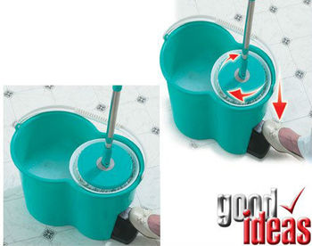 Spin Mop and Go .Spinning Mop with 2 Heads and Bucket