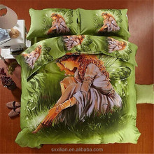 latest design 3D animal print bedding sets/duvet cover/bed sheet set/bed linen