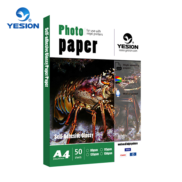 Yesion High Quality Sticker Photo Paper /115gsm~150gsm A3 Self Adhesive Glossy Photo Paper For Inkjet Printer