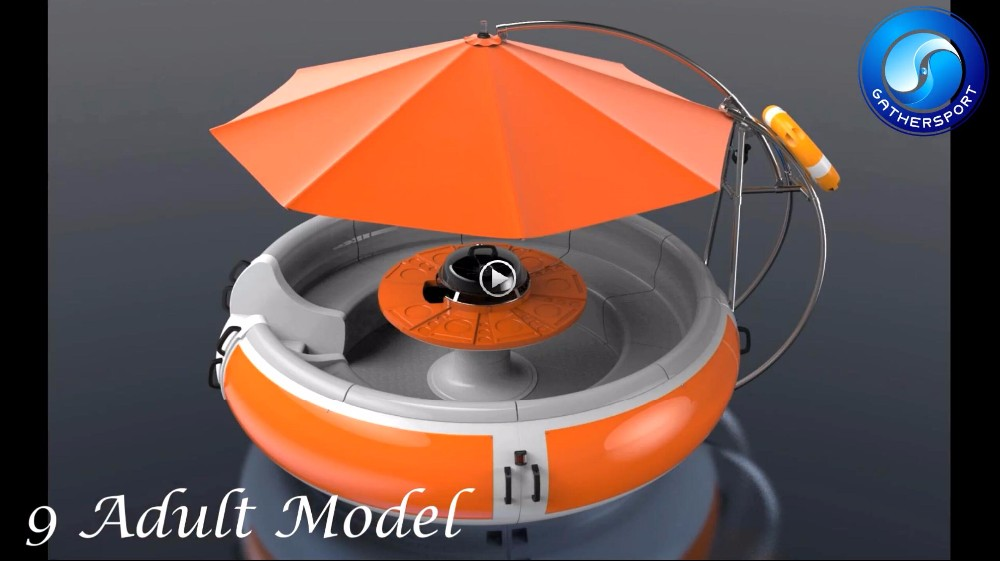 Gather sport new designed aluminum Leisure electric BBQ donut boat for sale
