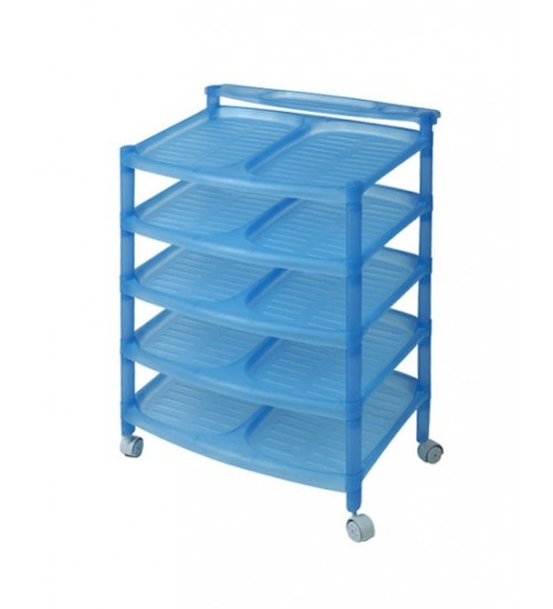 5 Tiers Stackable Plastic Shoe Rack - Hot Sale - Top Quality - Knockdown