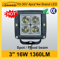 Wholesales 16W led work light off road 4x4 jeep lights