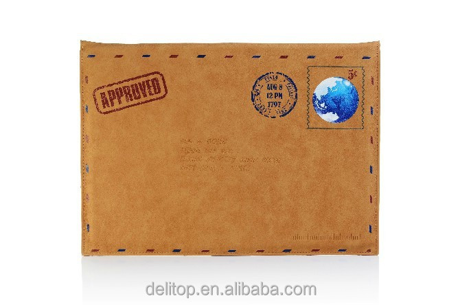 "New Arrival Envelope Designed Fancy Leather Case for Macbook Air 11""&13"""