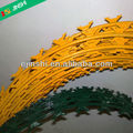High Tensile painted Concertina Razor Wire