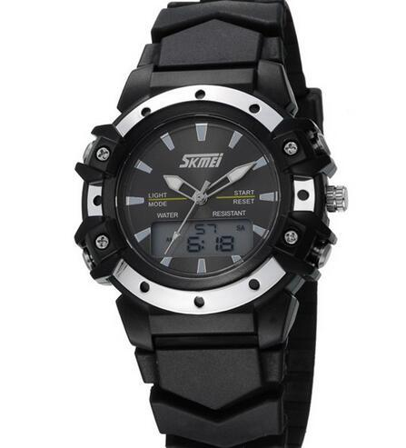 Skmei Casual Wristwatches Digital & Analog Multifunction Quartz Watch 30m Waterproof Student Sports Watches for Women Men