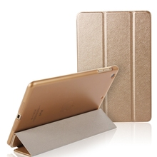 For iPad Mini Air 2 Case Luxury Silk Leather Transparent Flip Case For iPad Air 2 1 Mini 4 3 2 1 Stand Full Cover Capa