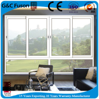 horizontal sliding window screen aluminum framed double glazed sliding window