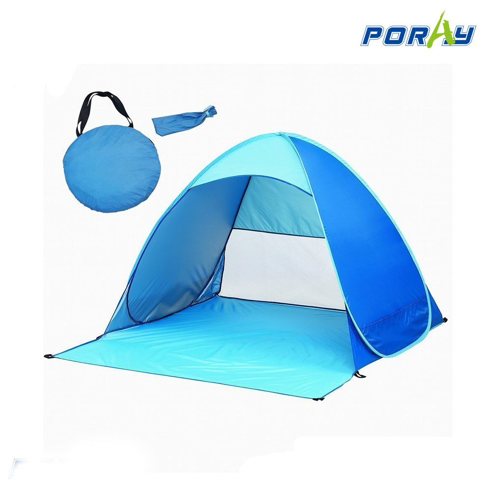 Automatic Pop Up Instant Portable Outdoors Beach tent Sun shade cabana shelter blue.