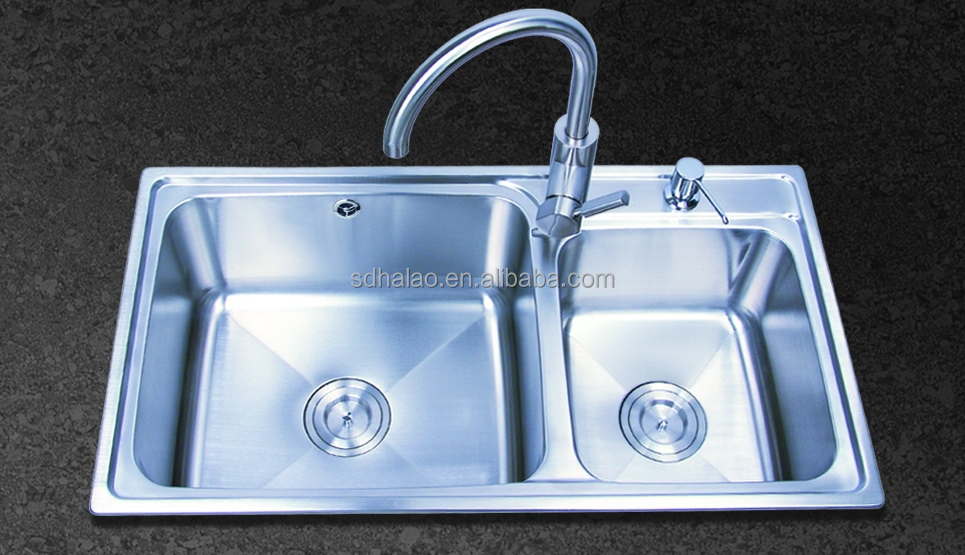 double bowl stainless steel kitchen sink cabinet HQ-1P05XT