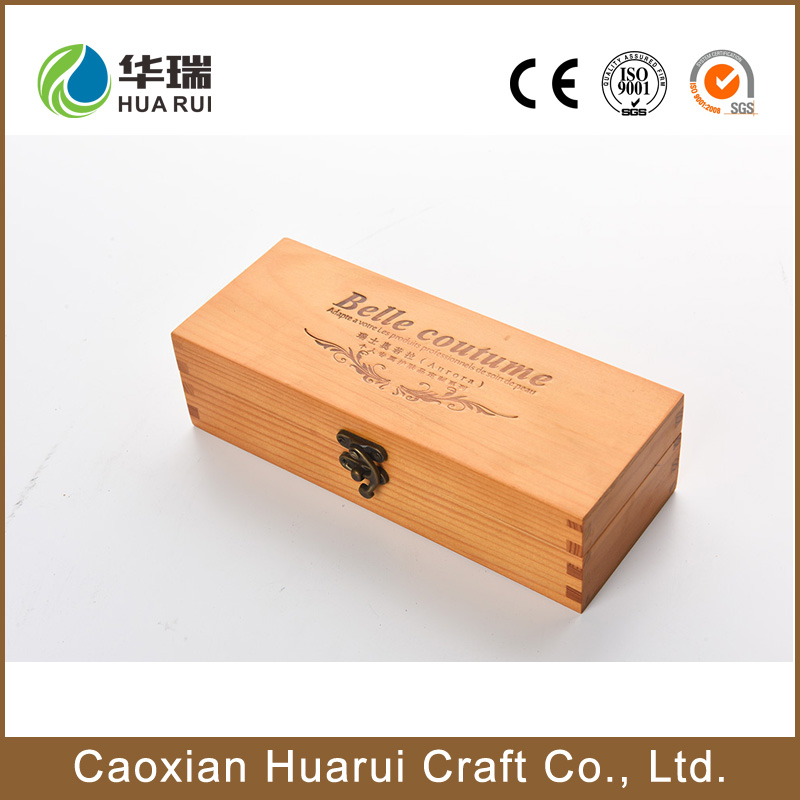 Wholesale huarui factory made in india wooden gift box with lock