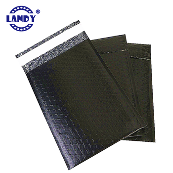 Free samples large black self seal adhesive poly bubble mailer satchel matte black envelopes post bags