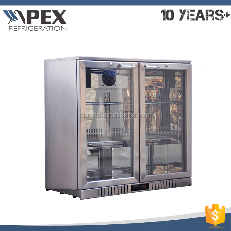 R134a/R600a LG compressor stainless steel material dynamic cooling system beer fridge back bar cooler