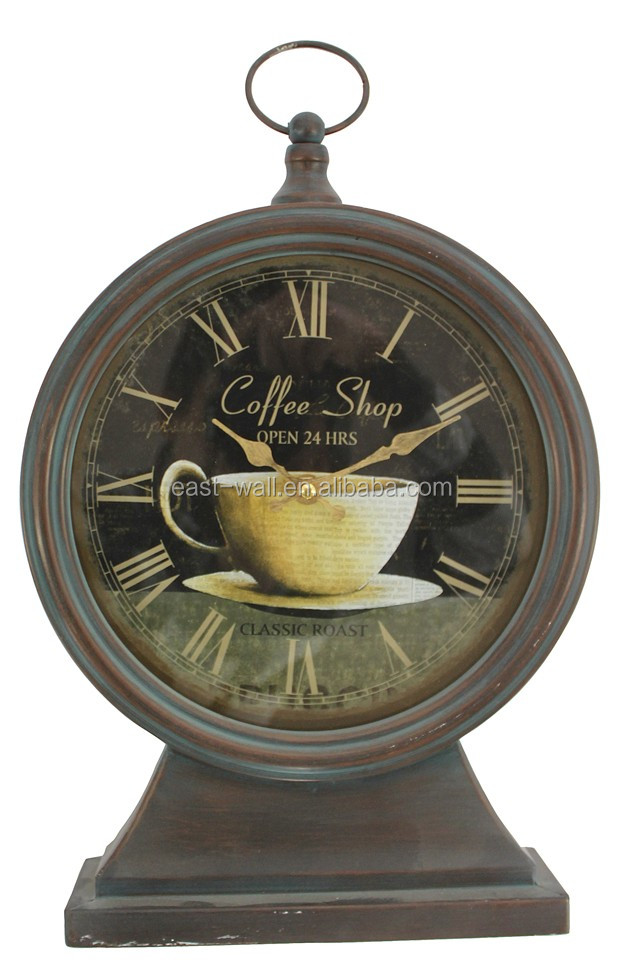 coffee shop table clock digital modern design 25.5x7.5x41cm