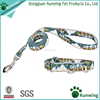 premium custom print pattern canvas christmas dog collar leash as pet accessories
