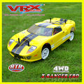 4WD rc on-road car,Brushed 1/10th scale RC on-road car with lighe system,rc drift car with light