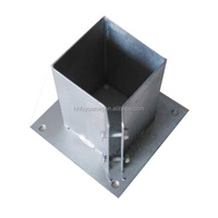 Hot Dip Galvanized Post Base Bracket with Double Bolts