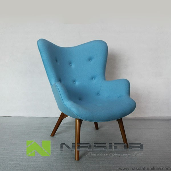 CH181 blue fabric Grant Featherston R160 Contour Lounge Chair