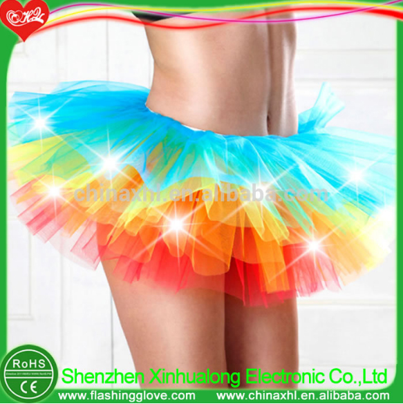 Christmas gift ideas LED flashing fasion lady skirting lights