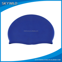 Wholesale Waterproof Silicone Swim Cap, Water Sports Swimming Cap Silicone Hat
