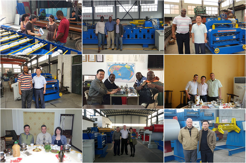 Russia Style Cold Steel Bending Roof Roll Forming Machine in Botou