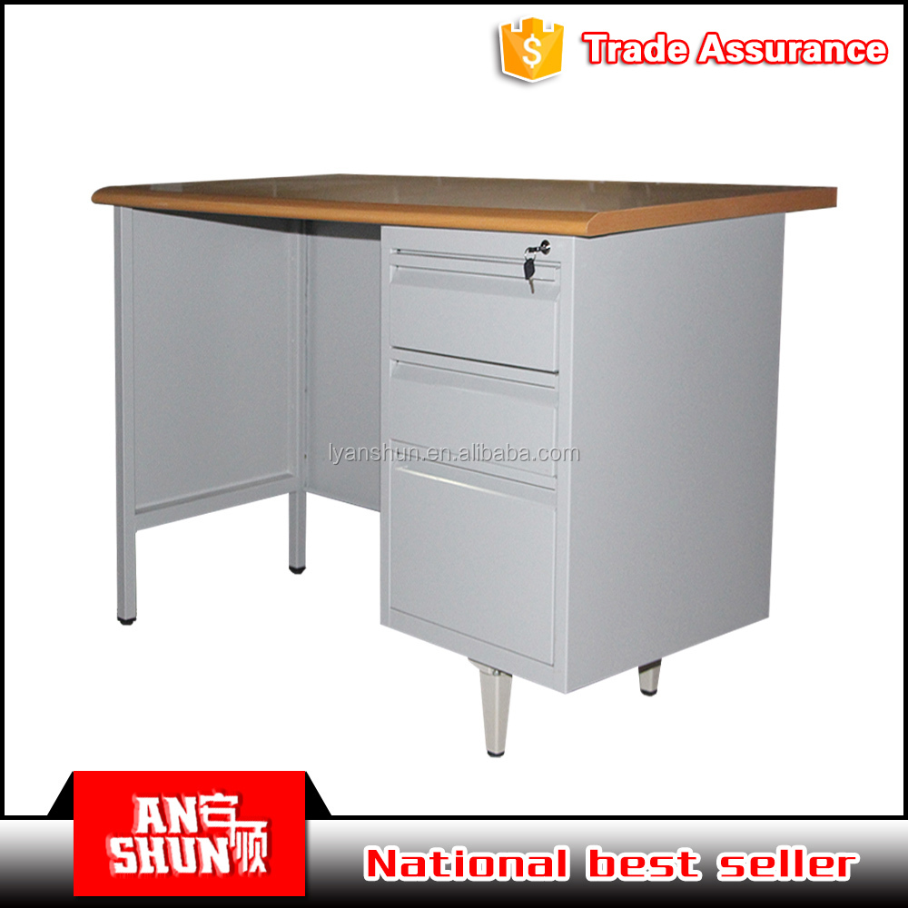 cheap simple appearance design teacher desk with file drawer