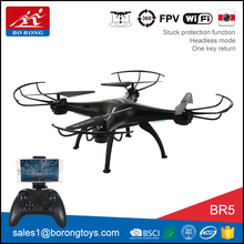 5.8G real-time transmission 2.4G gyroscope wifi camera drone with light BR5