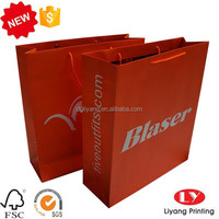 Custom printed paper bags large size with rope handle for shopping