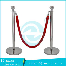 customized rope retractable barrier wire pipe stanchion