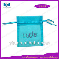 Promotional Blue Logo Organza Pouch Wedding