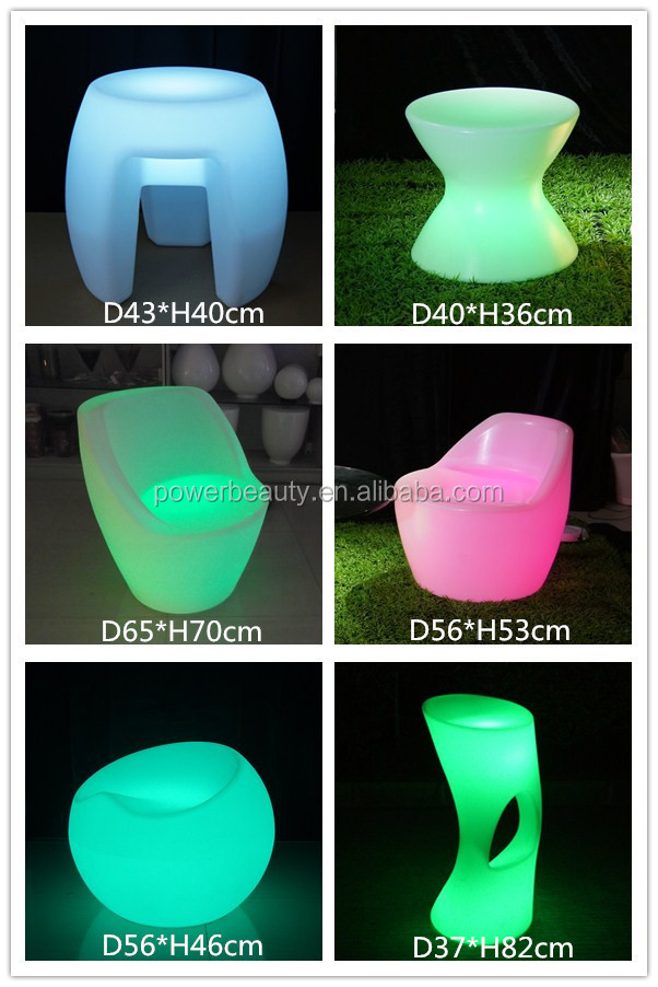 conformatable big size round plastic lighted up night club sofa