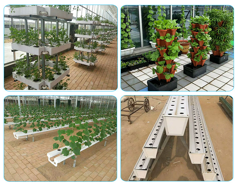 China factory wholesale 100x50mm PVC NFT hydroponic channel pipe for Lettuce grown