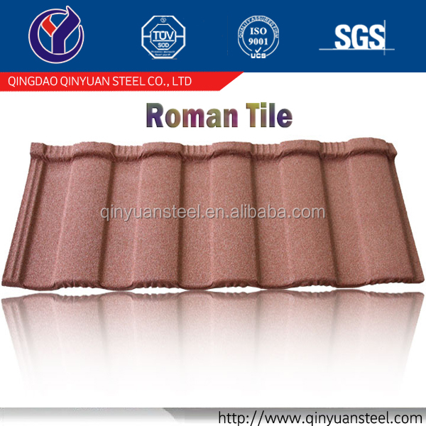 flexible roofing material rainbow roofing tile, high quality aluminium zinc steel roofing tile