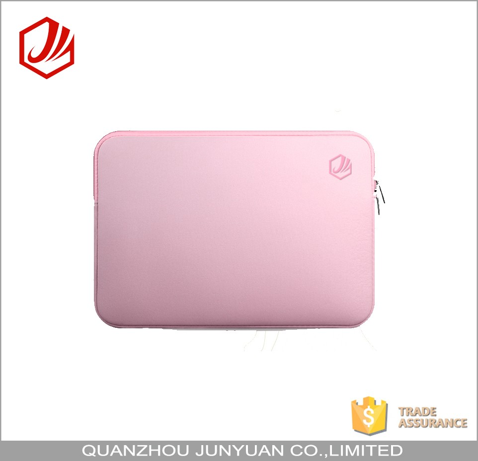 Fashion Portable Pink Girls Laptop Bag With Neoprene