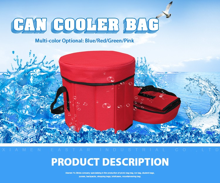 600d polyester fabric hexagon extra large insulated cooler bag